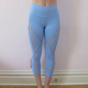 Blue Mesh Alo Leggings
